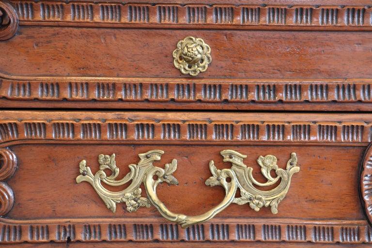 20th Century Old World Mahogany Louis XV Secretary For Sale