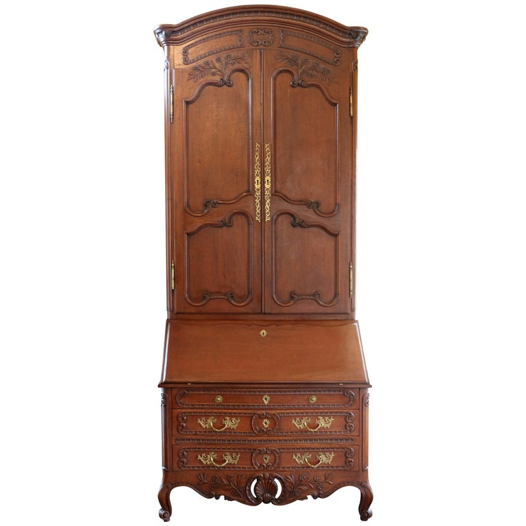 Old World Mahogany Louis XV Secretary For Sale