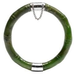 Older Nephrite Jade Bangle with Fine Finish