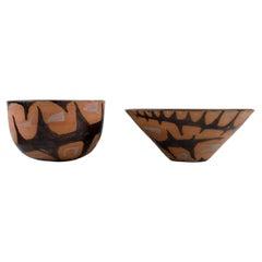 Ole Bjørn Krüger, Danish Sculptor and Ceramicist, Two Unique Bowls