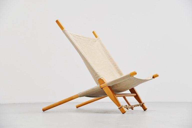 Mid-Century Modern Ole Gjerløv-Knudsen Saw Lounge Chair Cado, Denmark, 1958 For Sale