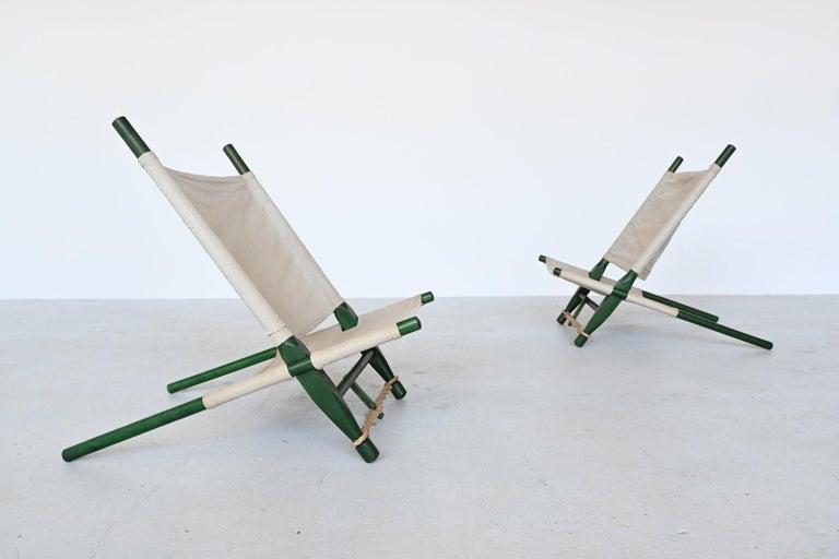 Mid-Century Modern Ole Gjerlov Knudsen Saw Pair of Lounge Chairs Cado, Denmark, 1958 For Sale