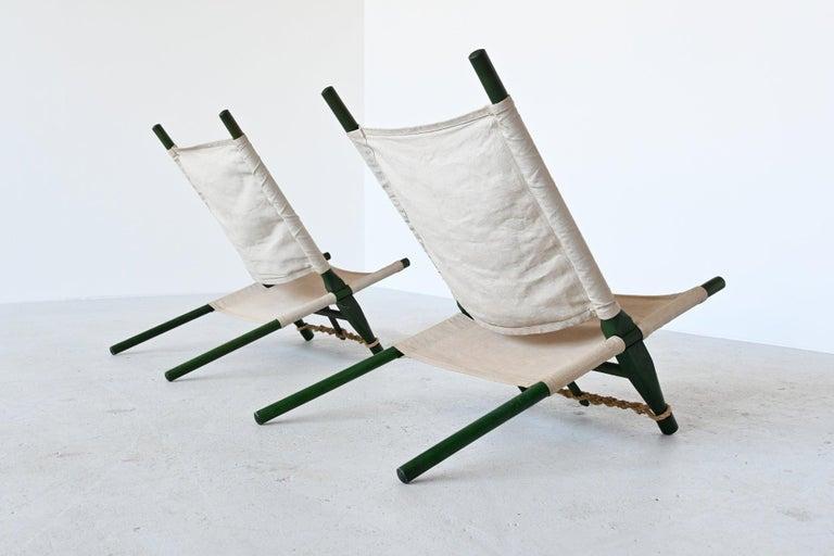 Danish Ole Gjerlov Knudsen Saw Pair of Lounge Chairs Cado, Denmark, 1958 For Sale