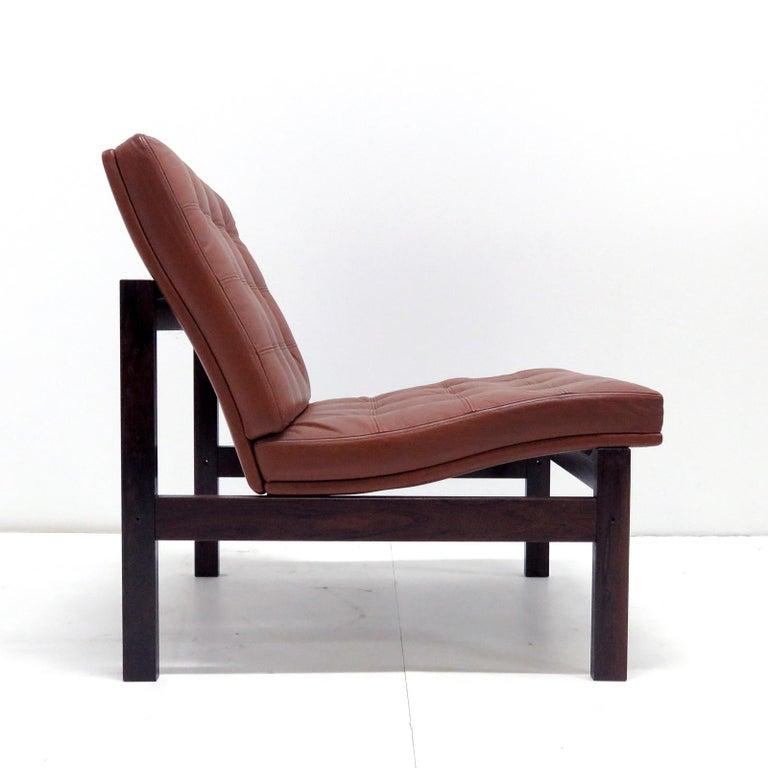 Ole Gjerlov-Knudsen & Torben Lind 'Moduline' Leather Seating Set, 1962 For Sale 2