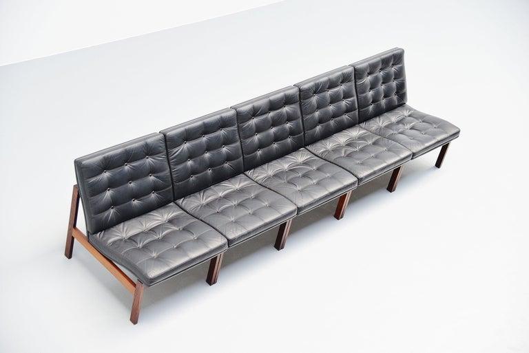 Ole Gjerlov Knudsen Torben Lind Moduline Sofa, Denmark, 1962 In Good Condition For Sale In Roosendaal, Noord Brabant