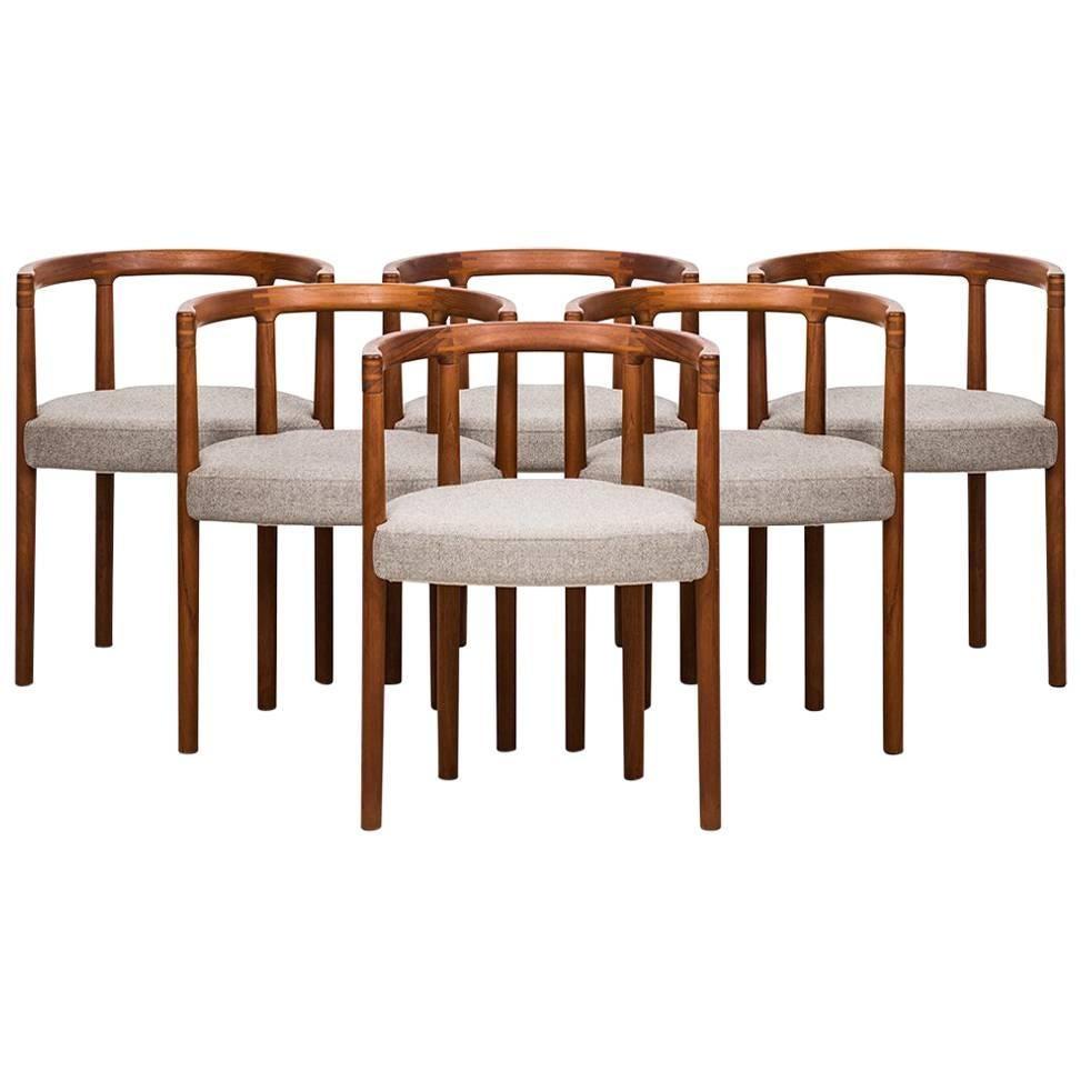 Ole Gjerløv-Knudsen Dining Chairs Model 195 by France & Son in Denmark