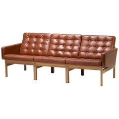 Ole Gjerløv-Knudsen & Torben Lind for France & Son Leather Sofa