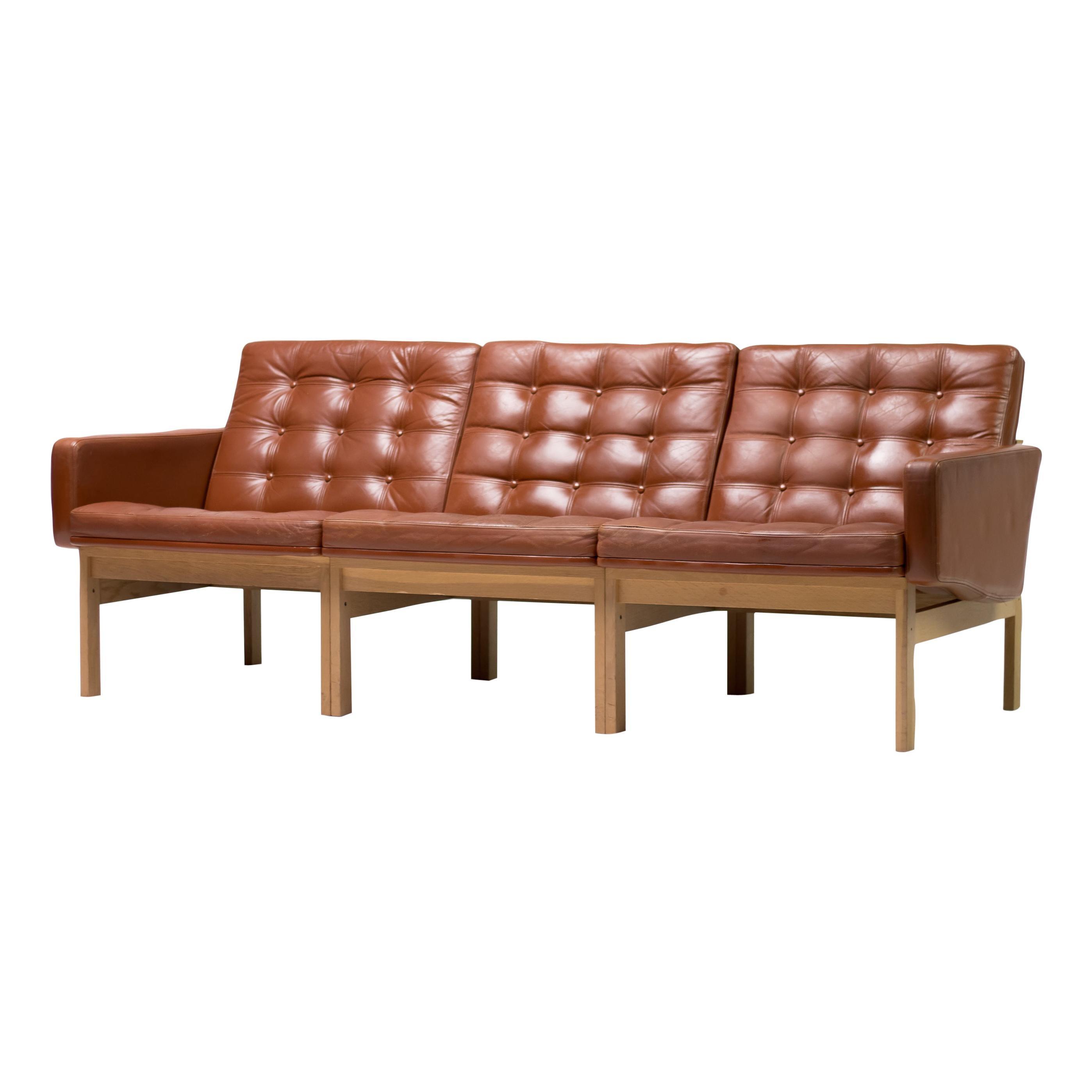 Ole Gjerløv-Knudsen & Torben Lind Leather Sofa