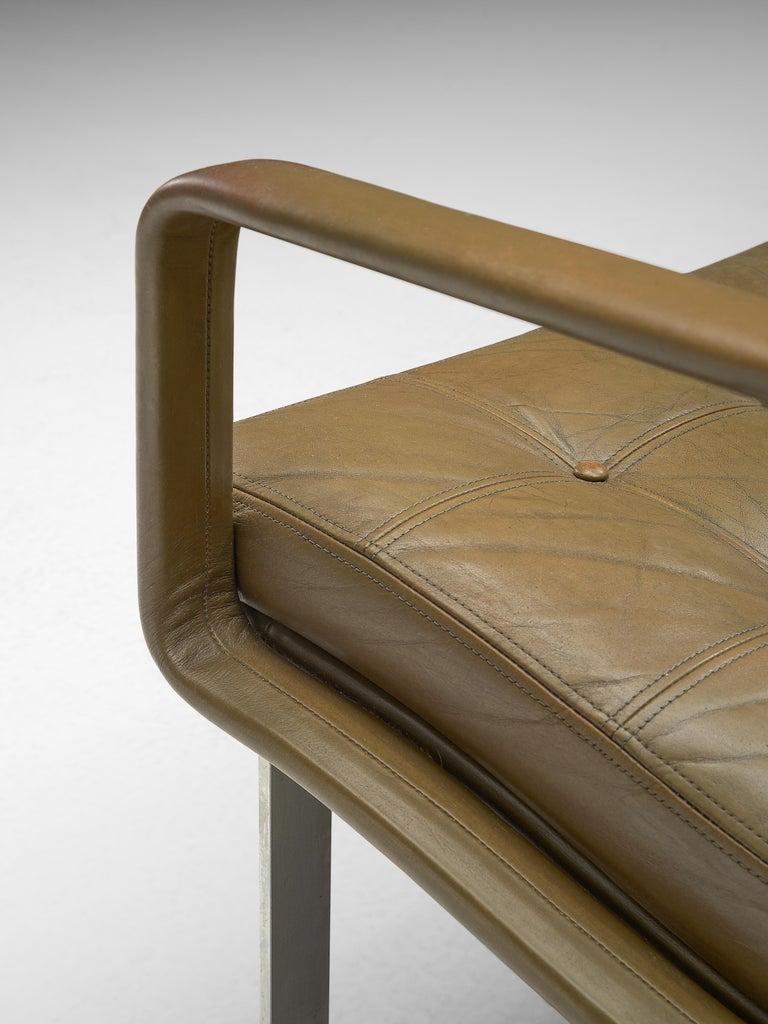 Ole Gjerløv-Knudsen & Torben Lind Moduline Sofa in Navy Green Leather For Sale 2