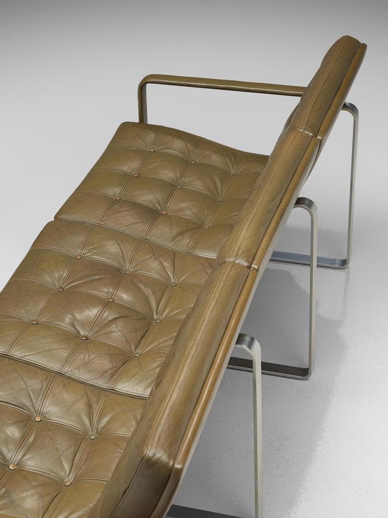 Ole Gjerløv-Knudsen & Torben Lind Moduline Sofa in Navy Green Leather For Sale 3