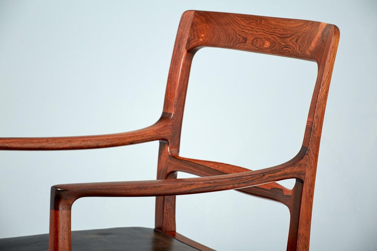 Scandinavian Modern Ole Wanscher 1954 Rosewood Armchair  For Sale