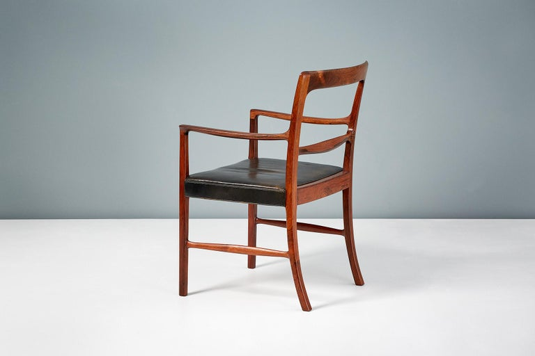 Ole Wanscher 1954 Rosewood Armchair  In Good Condition For Sale In London, GB