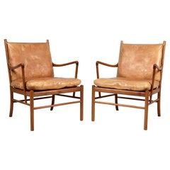 Ole Wanscher, a Pair of Vintage PJ-149 Mahogany 'Colonial' Armchairs, 1960s