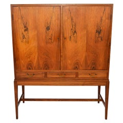 Ole Wanscher Brazilian Rosewood Dry Bar Cupboard