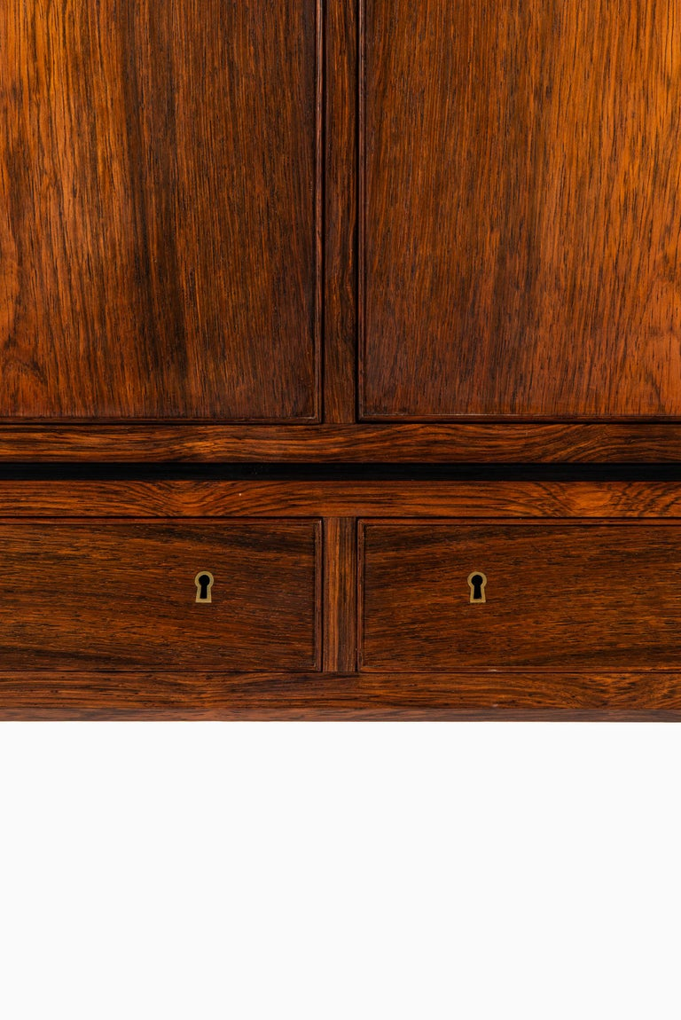 Ole Wanscher Cabinet Produced by Cabinetmaker A.J. Iversen in Denmark For Sale 1