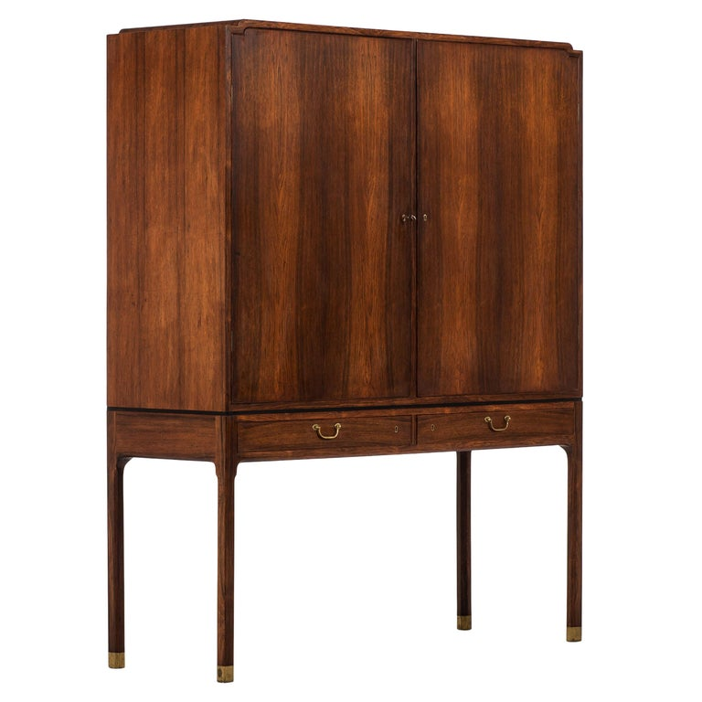 Ole Wanscher Cabinet Produced by Cabinetmaker A.J. Iversen in Denmark For Sale