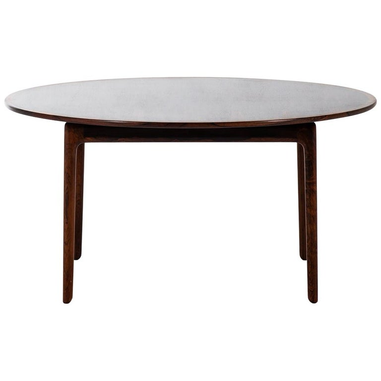Ole Wanscher Coffee Table Produced by P. Jeppesens Møbelfabrik in Denmark For Sale