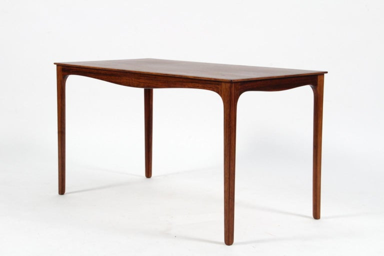 Ole Wanscher coffee table of rosewood.  Made by A. J. Iversen.