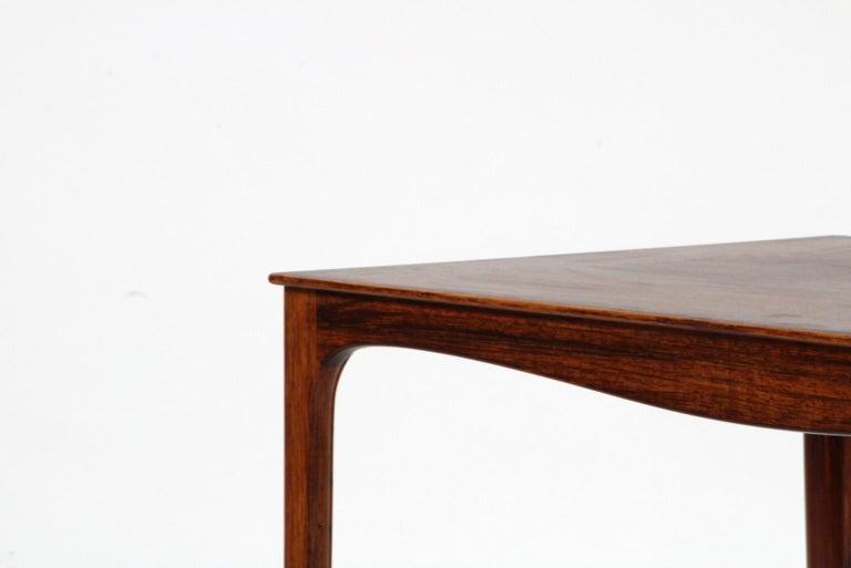 Scandinavian Modern Ole Wanscher Coffee Table, Rosewood, A. J. Iversen For Sale