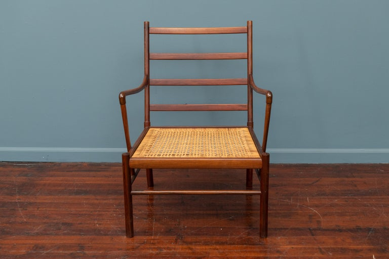 Ole Wanscher Colonial Armchair in Rosewood For Sale 4