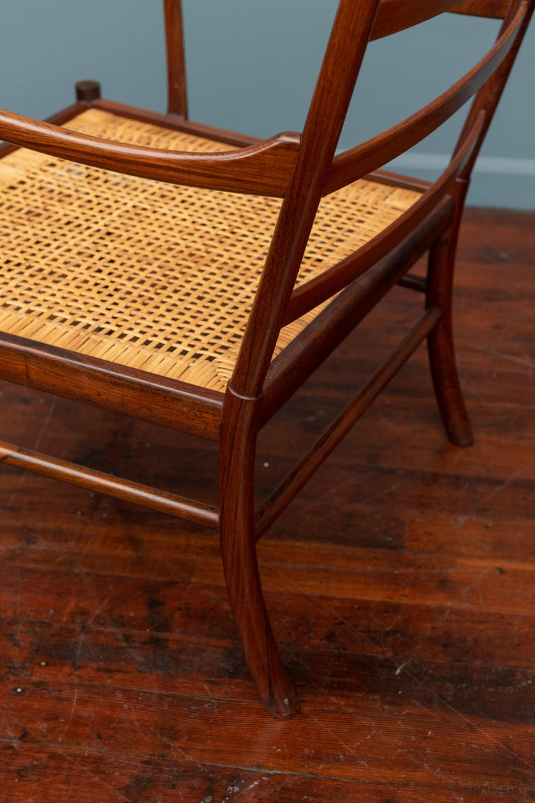 Ole Wanscher Colonial Armchair in Rosewood For Sale 5