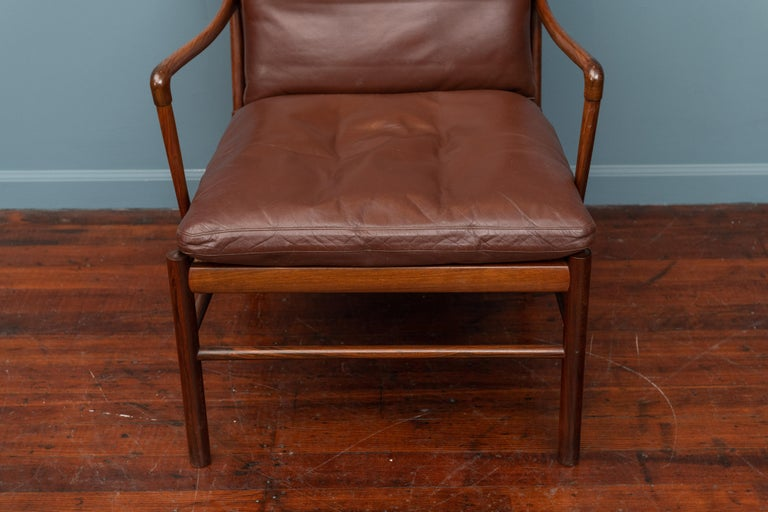 Scandinavian Modern Ole Wanscher Colonial Armchair in Rosewood For Sale