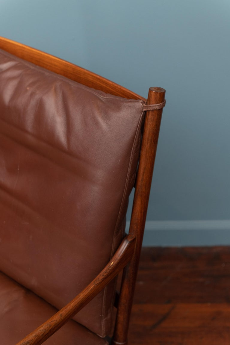 Danish Ole Wanscher Colonial Armchair in Rosewood For Sale