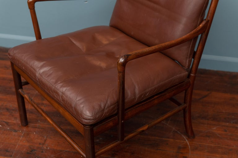 Ole Wanscher Colonial Armchair in Rosewood In Good Condition For Sale In San Francisco, CA