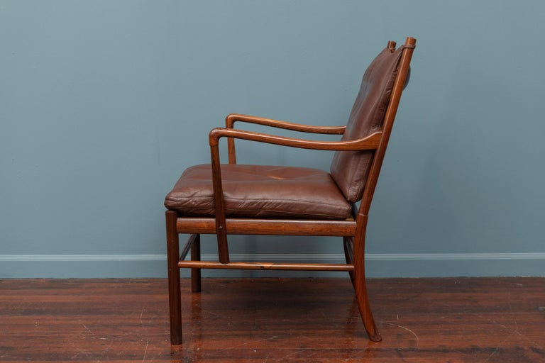 Mid-20th Century Ole Wanscher Colonial Armchair in Rosewood For Sale