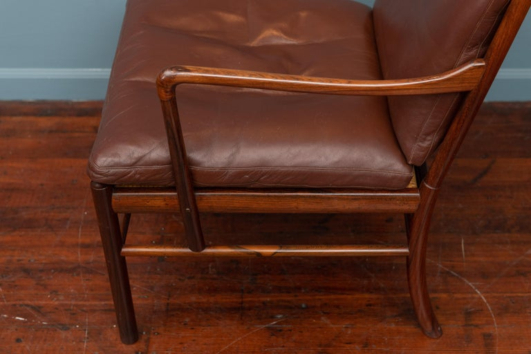 Ole Wanscher Colonial Armchair in Rosewood For Sale 1