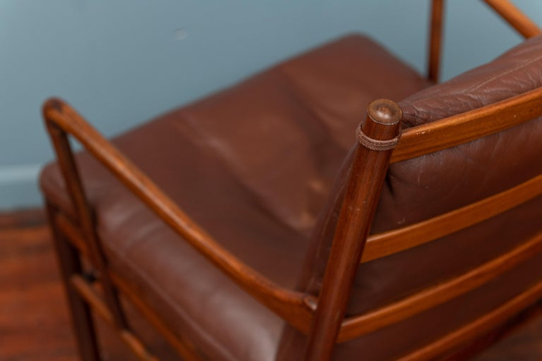 Ole Wanscher Colonial Armchair in Rosewood For Sale 3