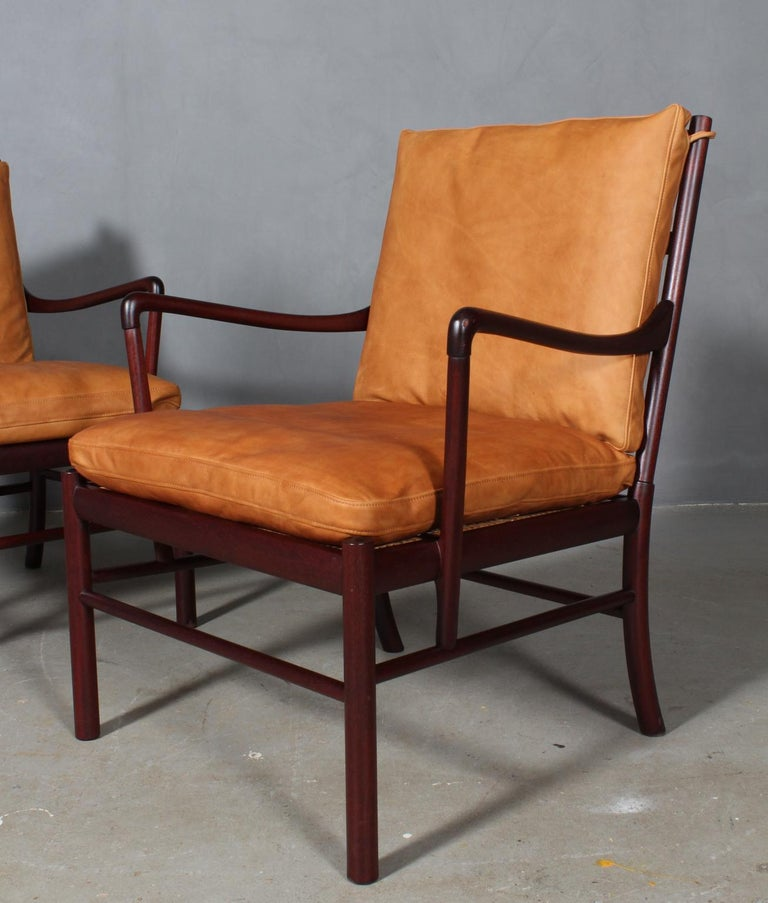 Scandinavian Modern Ole Wanscher Colonial Chairs