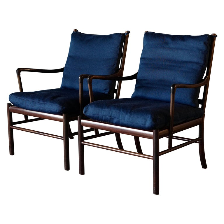 "Ole Wanscher ""Colonial"" Chairs in Mahogany, a Pair For Sale"