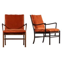 Ole Wanscher Colonial Easy Chairs in Rosewood by P. Jeppesens Møbelfabrik