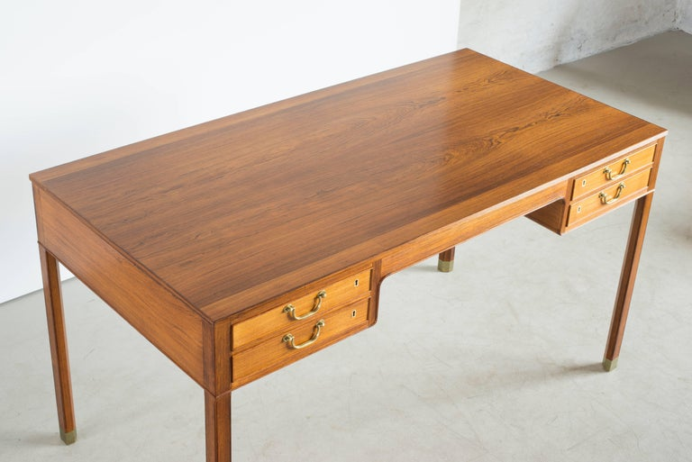 Danish Ole Wanscher Desk in Rosewood for A. J. Iversen For Sale