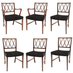Ole Wanscher Dining Chairs for AJ Iverson Snedkermester
