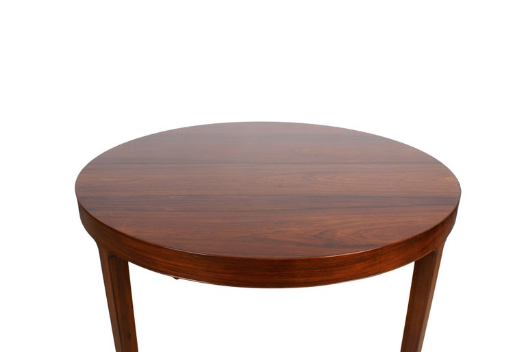 Ole Wanscher Dining Table in Rosewood by Cabinetmaker A.J. Iversen, 1942 For Sale 4