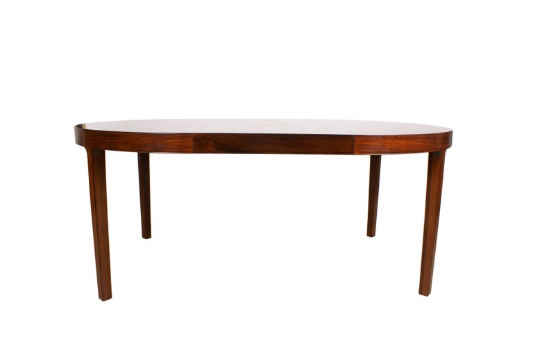 Ole Wanscher Dining Table in Rosewood by Cabinetmaker A.J. Iversen, 1942 For Sale 5