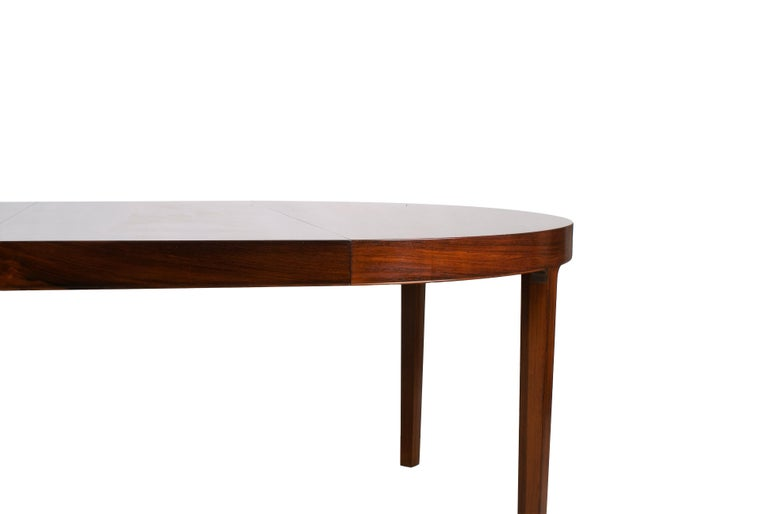 Ole Wanscher Dining Table in Rosewood by Cabinetmaker A.J. Iversen, 1942 For Sale 6