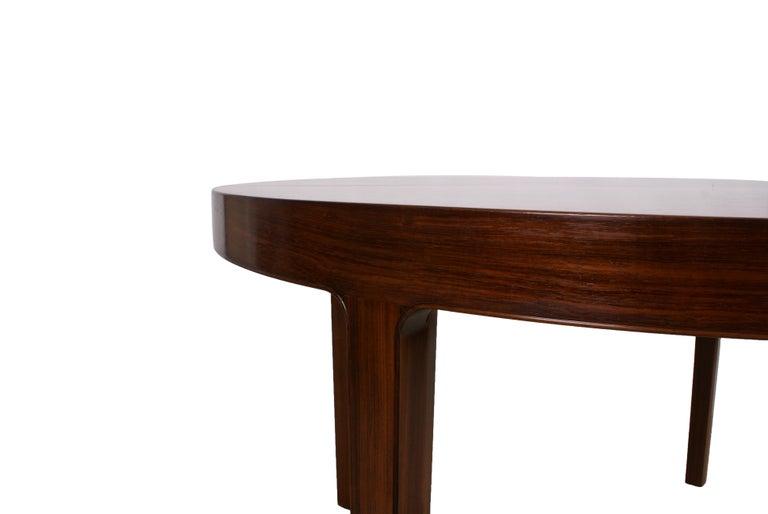 Scandinavian Modern Ole Wanscher Dining Table in Rosewood by Cabinetmaker A.J. Iversen, 1942 For Sale