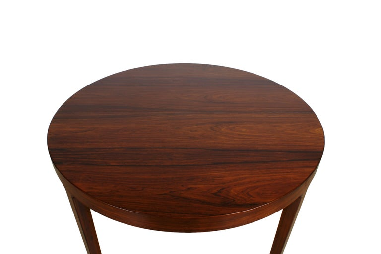 Danish Ole Wanscher Dining Table in Rosewood by Cabinetmaker A.J. Iversen, 1942 For Sale