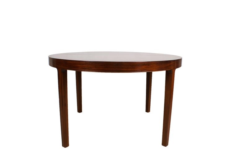 Mid-20th Century Ole Wanscher Dining Table in Rosewood by Cabinetmaker A.J. Iversen, 1942 For Sale