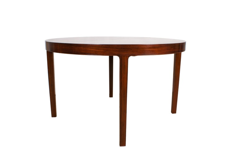 Ole Wanscher Dining Table in Rosewood by Cabinetmaker A.J. Iversen, 1942 For Sale 2