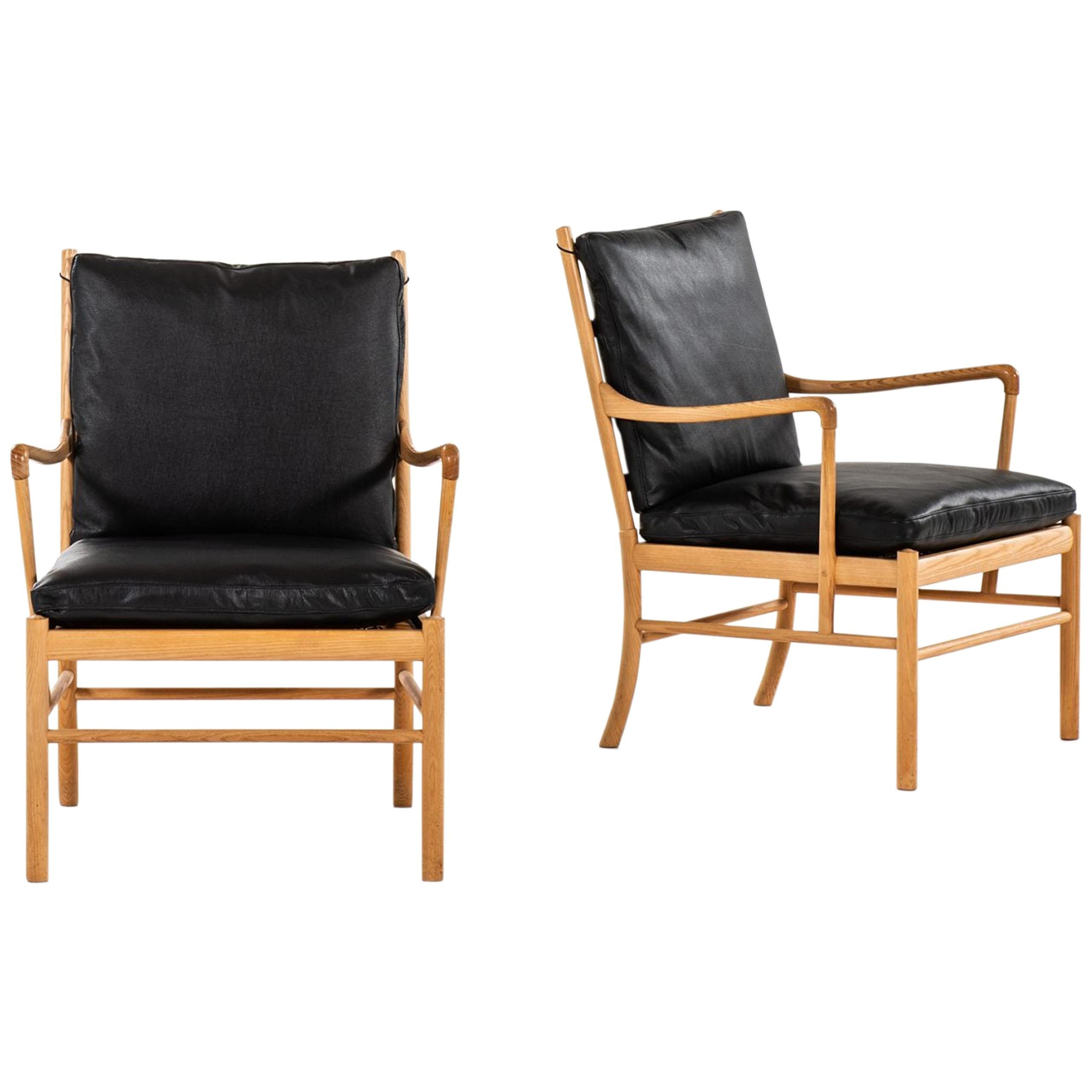 Ole Wanscher Easy Chairs/Armchairs PJ-149/Colonial by P. Jeppesen Møbelfabrik