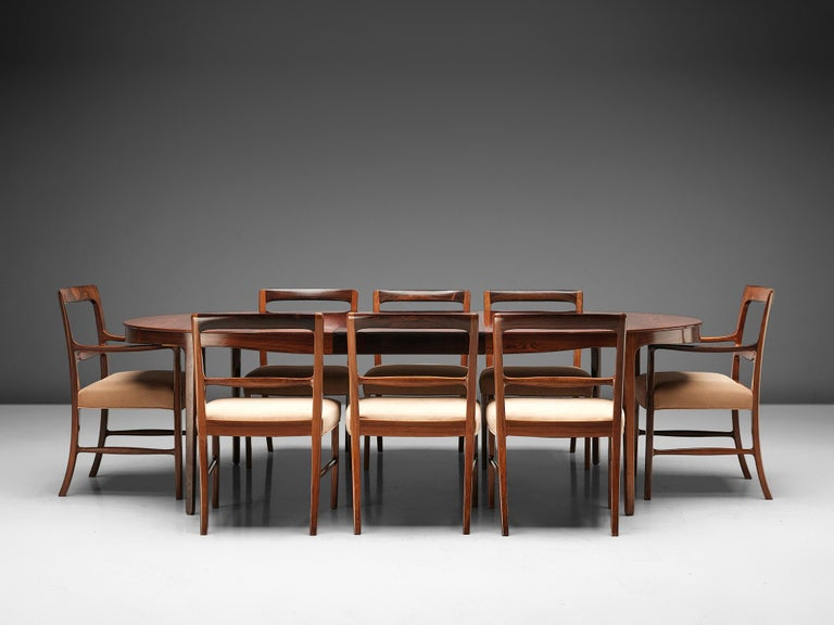 Ole Wanscher Extendable Oval Dining Table in Rosewood 6