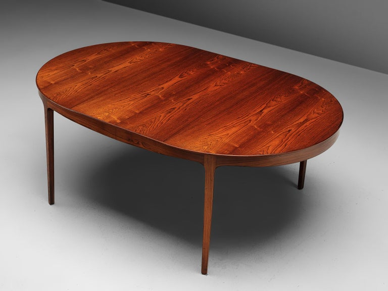 Mid-20th Century Ole Wanscher Extendable Oval Dining Table in Rosewood