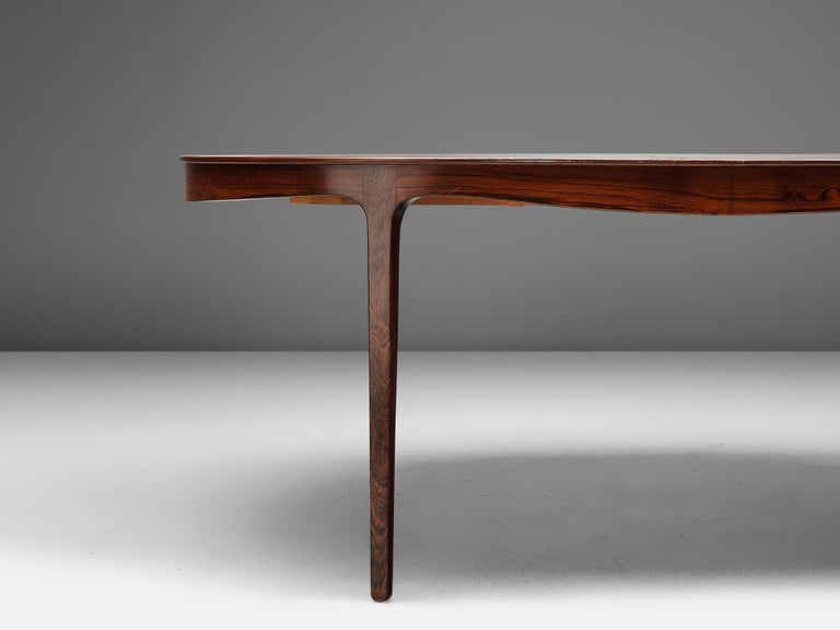 Ole Wanscher Extendable Oval Dining Table in Rosewood 1