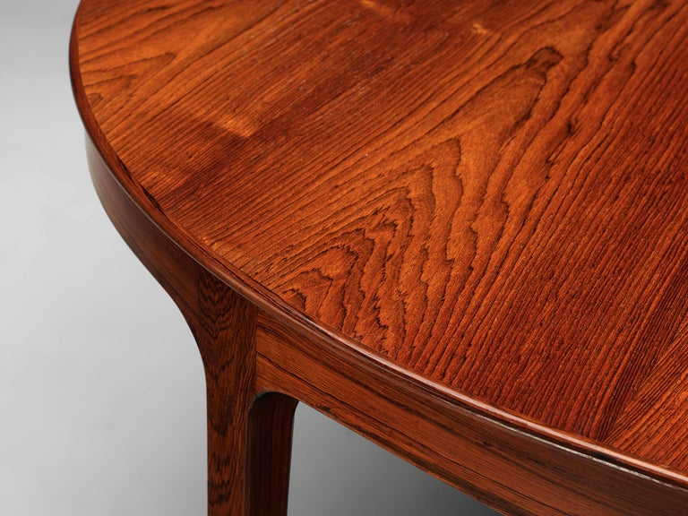 Ole Wanscher Extendable Oval Dining Table in Rosewood 2