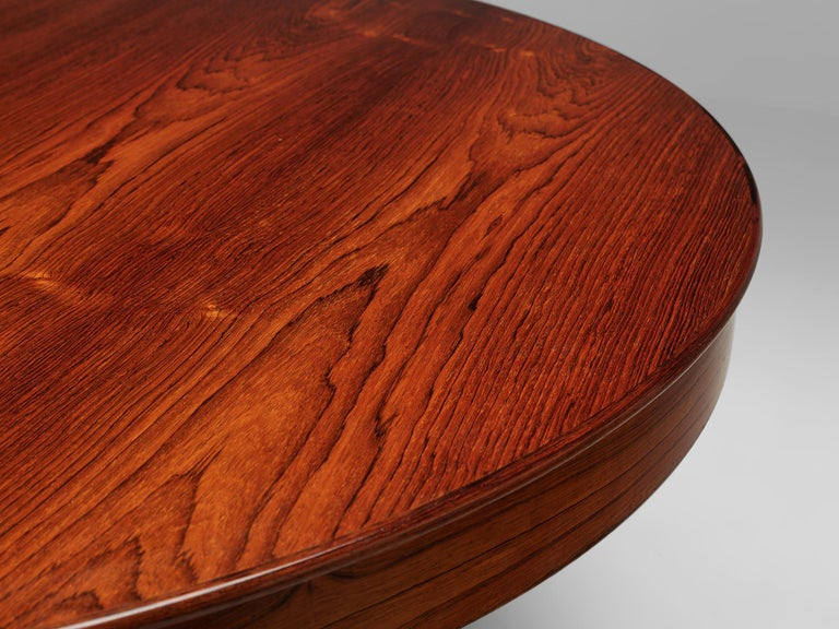 Ole Wanscher Extendable Oval Dining Table in Rosewood 3