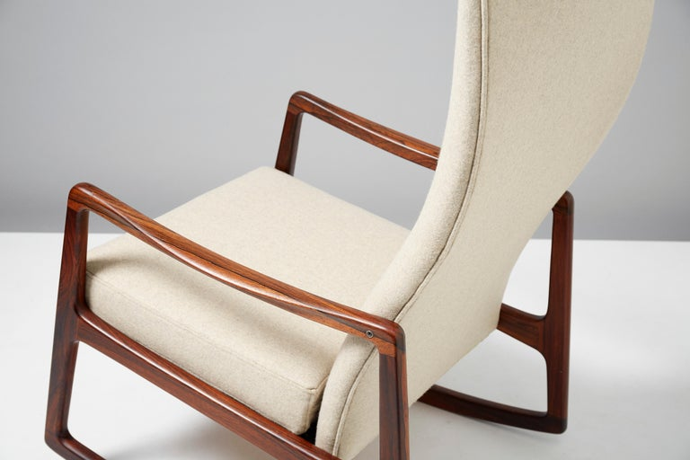 Ole Wanscher Fd 160 Rosewood Rocking Chair Circa 1960 For